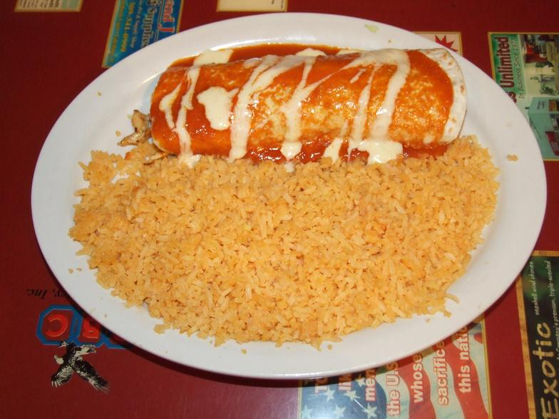 Burrito Croqueta with Double Order of Rice