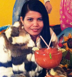 Pretty Woman With 27 Ounce Margarita