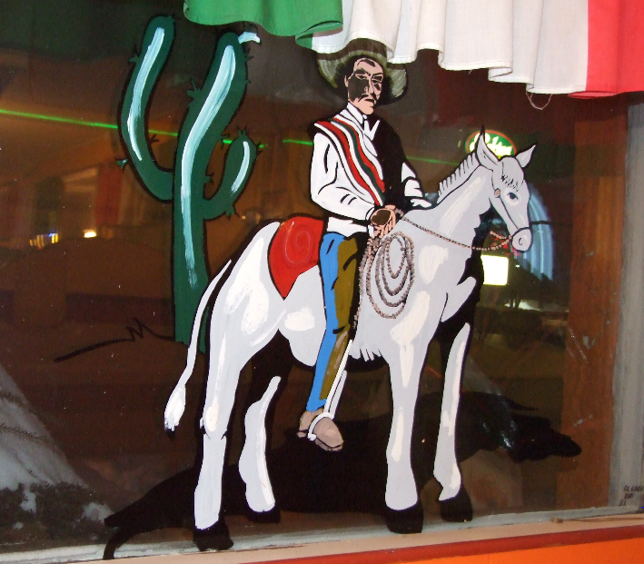 Mexican rancher on horse