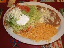 Enchilada with Green Sauce and Sour Cream