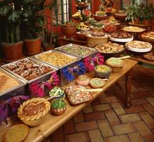Catering Layout for Mexican cuisine feast